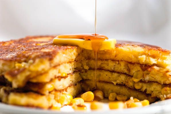 polenta and sweet corn pancakes | Breakfast and dessert | Pinterest