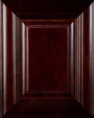 Cherry wood door dark mahogany stain cabinet door for Cherry mahogany kitchen cabinets