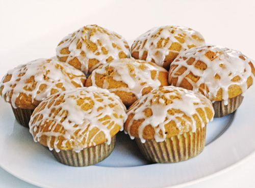 vanilla glazed pumpkin muffins. http://quick-dish.tablespoon.com/2010 ...