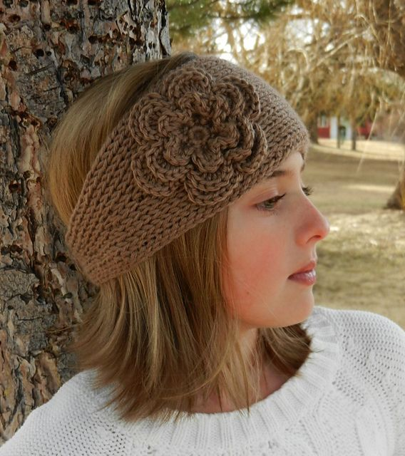 Crochet Pattern For Headband With Flower : Tunisian