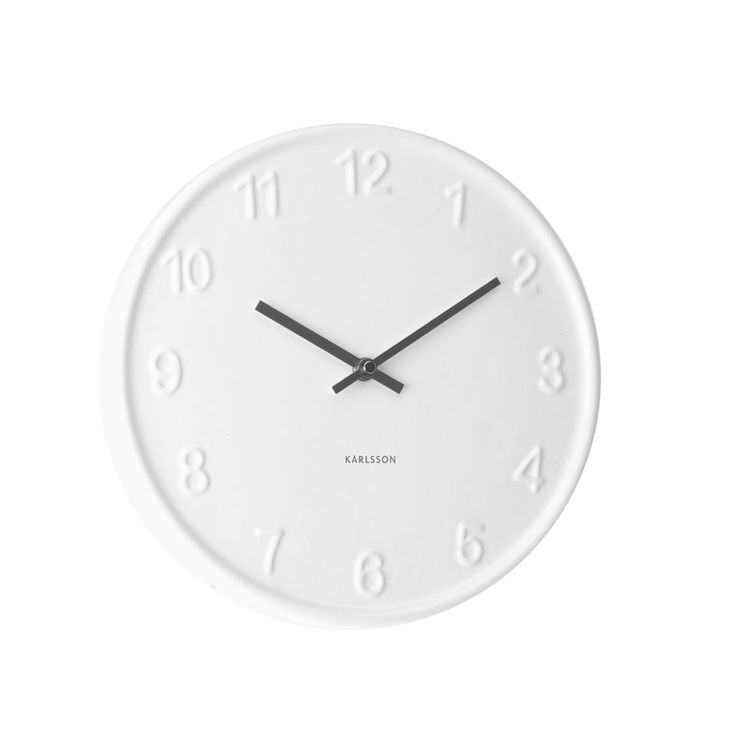Ceramic Numbers Wall Clock | Home Details | Pinterest