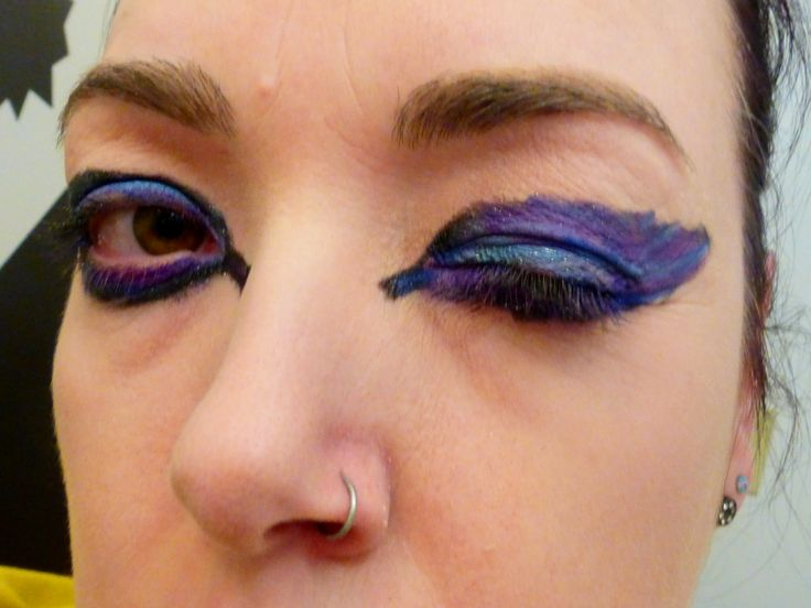 feather makeup.... wings??? : make up madness : Pinterest