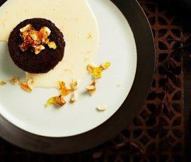 Soft Chocolate Cake With Orange Creme Anglaise Recipe — Dishmaps