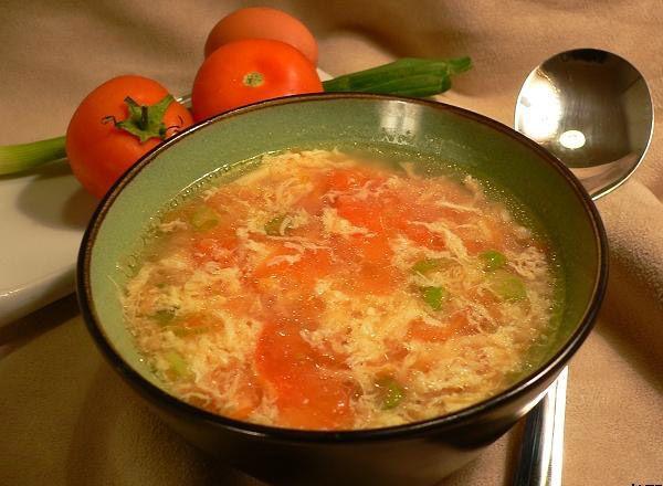 Tomato Egg Drop Soup Recipe   How to make Tomato Egg Drop Soup - Non ...