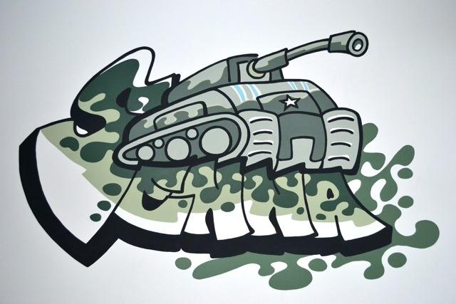 Muurschildering met naam Een stoere schildering voor een stoere ...