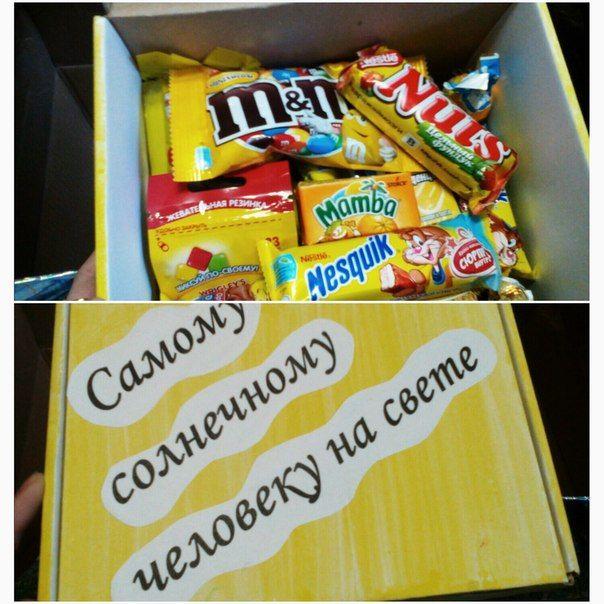 Коробка конфет с днем рождения своими руками