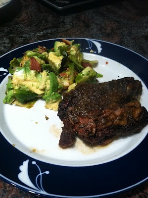 Slow Cooker Korean Short Ribs and Brussel Sprouts with Bacon, Avocado ...