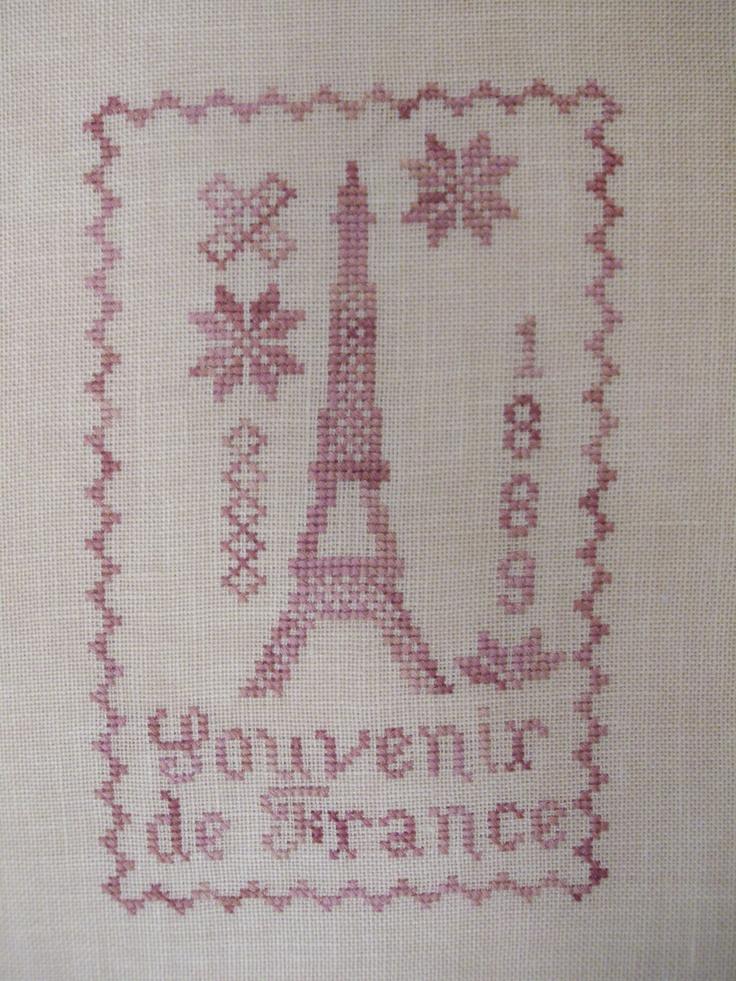 Eiffel tower blackbird designs i cross stitch for Blackbird designs english garden