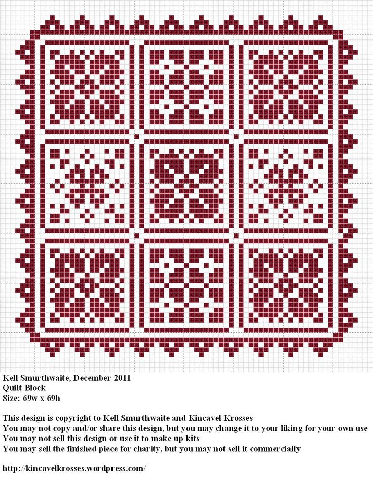 Quilt Patterns Cross Stitch : Quilt Block cross stitch pattern cross stitch patterns Pinterest