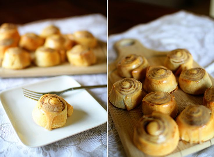 Pumpkin Cinnamon Rolls W/ Maple Cream Cheese Icing (77 cal each or 97 ...