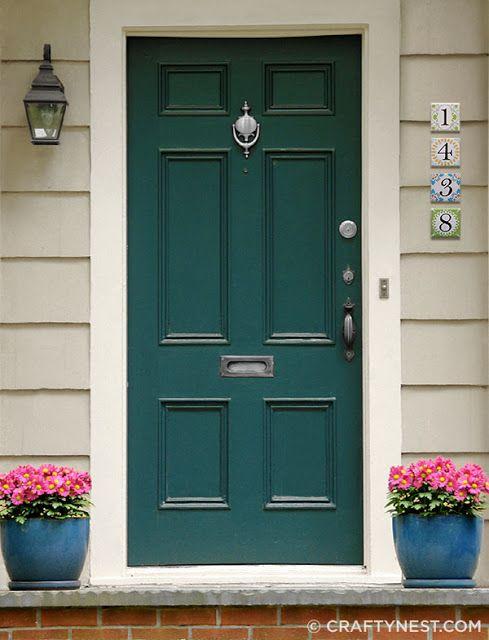 Deep Teal Door For The Front Door And Porch Pinterest