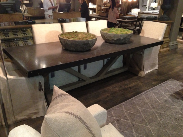 Restoration Hardware Dining Table Living Dining Rooms Pinterest