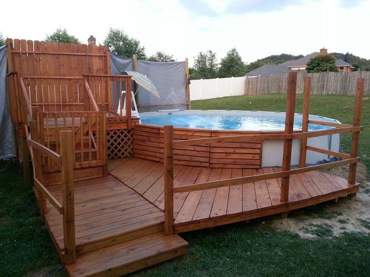 pool deck above ground pool deck designs pinterest