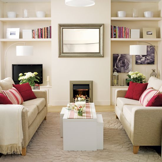 Cream And Red Living Room At Home Pinterest