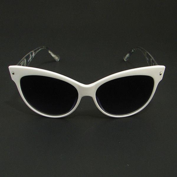 My Glasses Frames Turning White : White Oasis Cat Eye Sunglasses