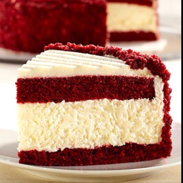 Red velvet cheesecake | Sweetie Pie | Pinterest