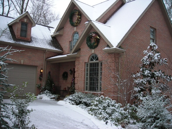 Garage Door Color For Red Brick Home Home Pinterest