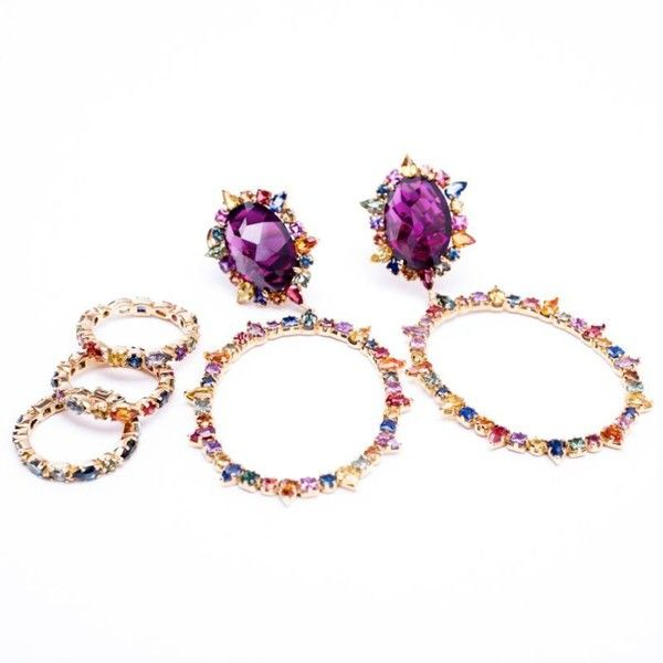 Emily and Ashley Jewelry Emily Ashley Custom Amethyst and Sapphire Earrings