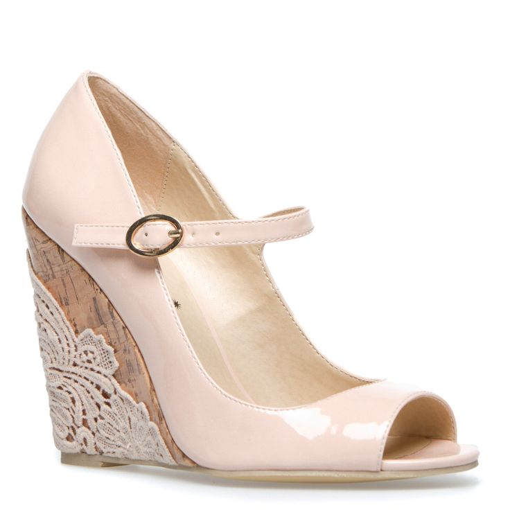 the lace is pretty wedding shoes
