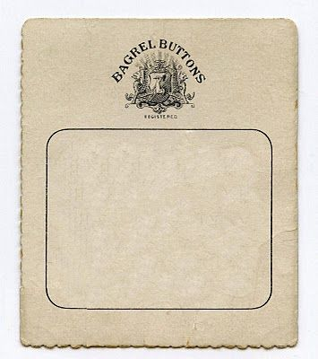 antique button card