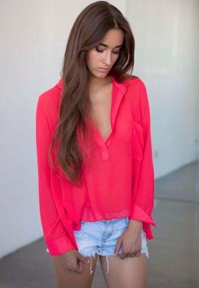 pink blouse, so pretty!!