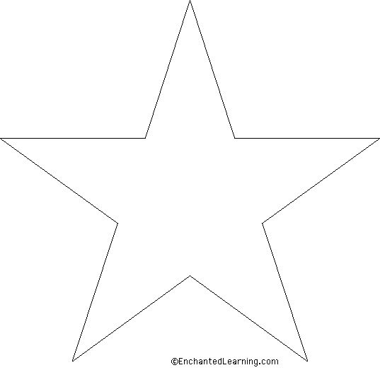 Large Star Template | embroidery/stencils/colouring pages | Pinterest