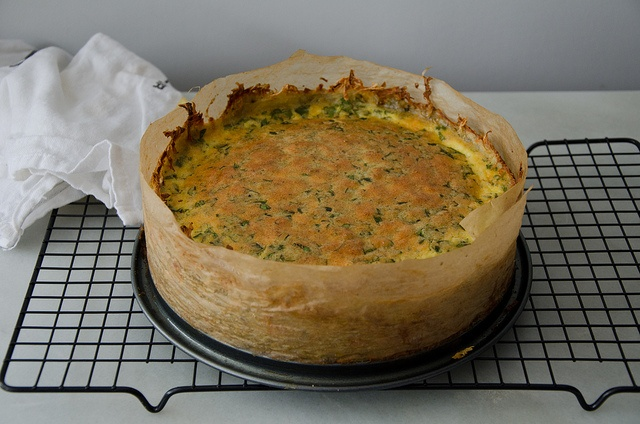 "Gruyere and Pancetta Quiche with Hash-Brown Crust • ""I rarely feel ..."