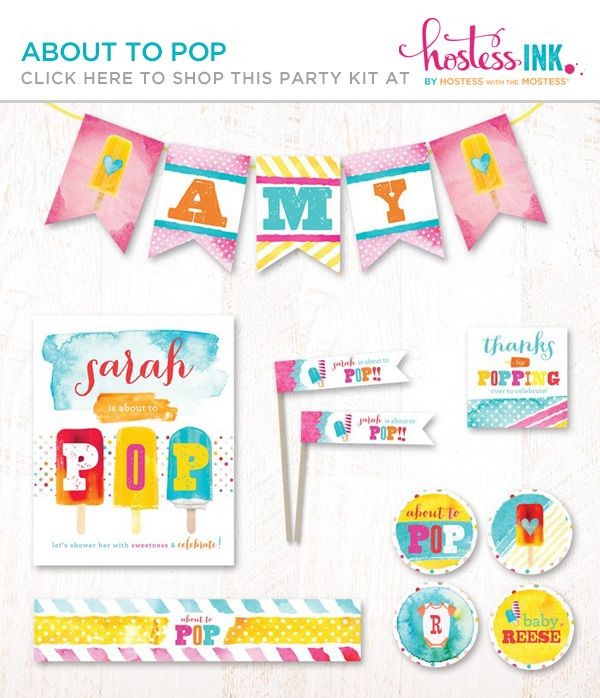 about to pop popsicle baby shower theme love the bright colors