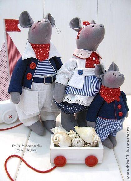 Игрушки животные, ручной работы.  Ярмарка Мастеров - ручная работа Морские мыши.  Ручная работа.