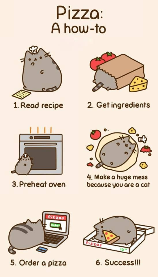 pusheen pizza | For When I'm Having A Bad Day | Pinterest