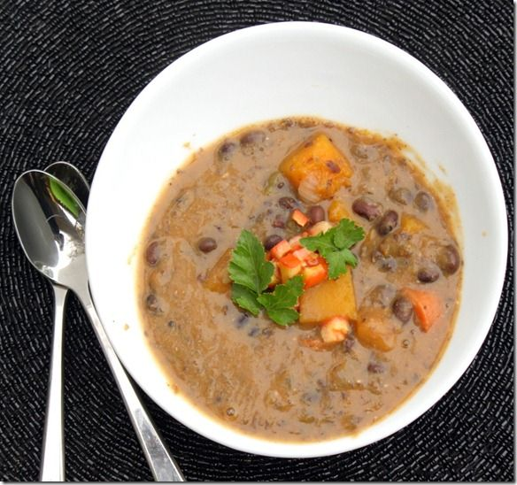 Black Bean and Squash Soup | Soup and Stew | Pinterest