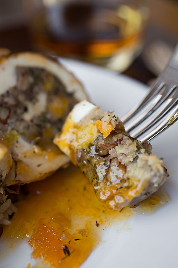 Glazed Chicken Roulade with a Savory, Dried Apricot & Toasted Pecan ...