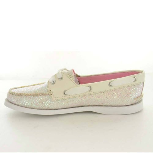 Sperry-Womens-Boat-Shoes-Size-7-M-9826751-A-O-White-Glitter-Patent