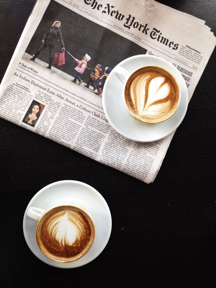 Coffee and The New York Times.