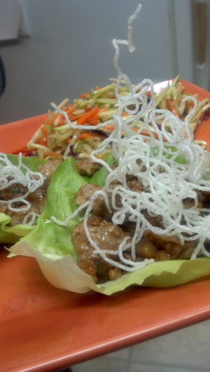 Asian Chicken Lettuce Wraps and Slaw | яє¢ιρєѕ | Pinterest