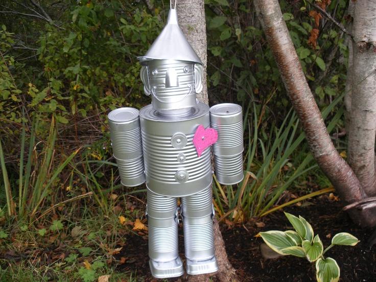 Tin man garden ideas pinterest