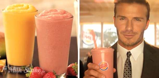 David Beckham and smoothies