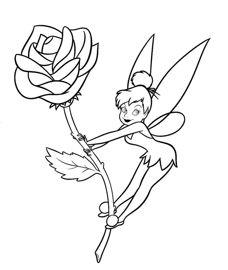 Tinkerbell coloring sheets