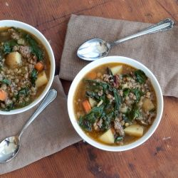 Chard, Lentil and Potato Soup with Sausage Recipe