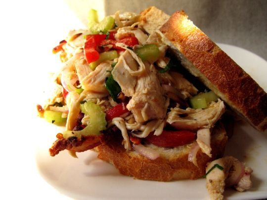 Recipe: Italian Chicken Salad Sandwiches - For a twist, I make this ...