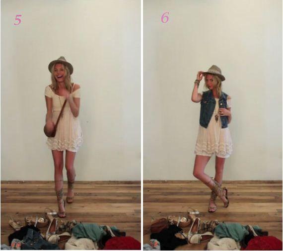 so many ways to style one dress!