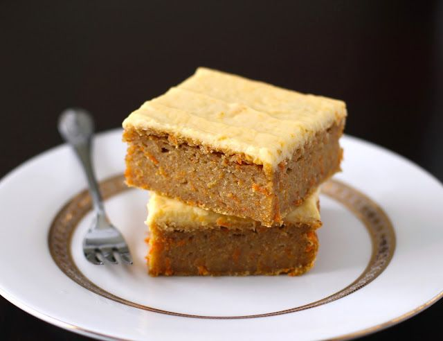 Carrot Cake Blondies with Orange Frosting | Recipe