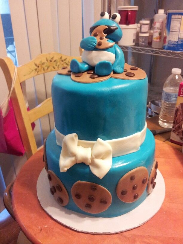 cookie monster baby shower cake cakes bakes by jessica pinterest