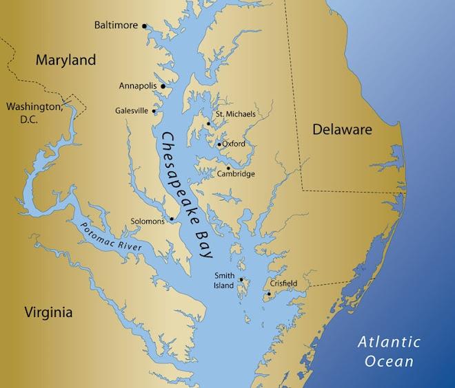 Chesapeake bay map my chesapeake bay pinterest for Chesapeake bay fishing map