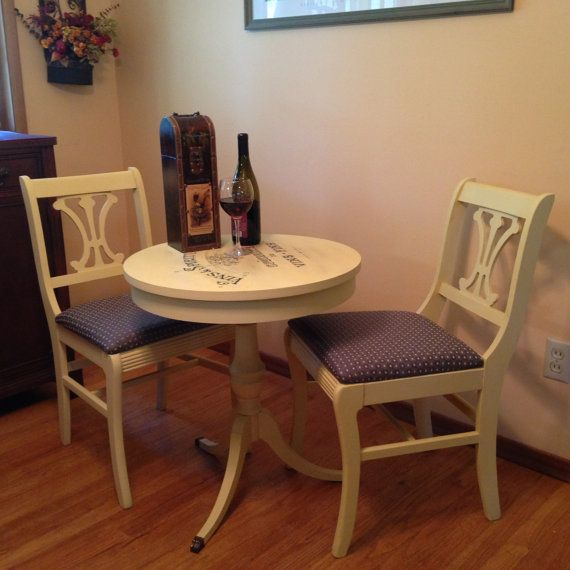 Vintage French Bistro Table And Chairs