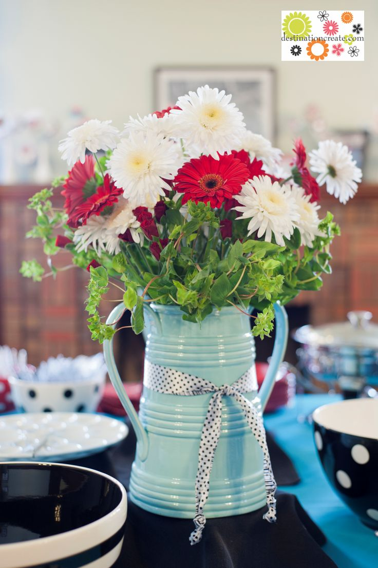 Red Gerbera Daisy - Switch White To Yellow (Sunflower, Viking Poms, or Daisy)