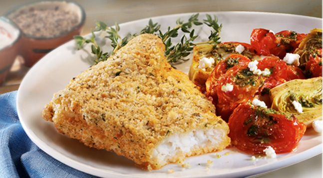 cornflake crusted baked chicken herb crusted baked cod recipe yummly ...