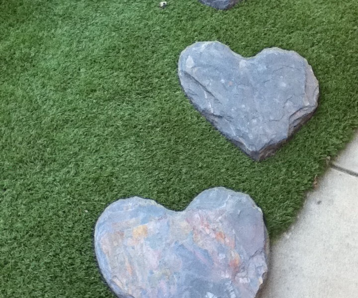Heart Stepping Stones Garden Pinterest