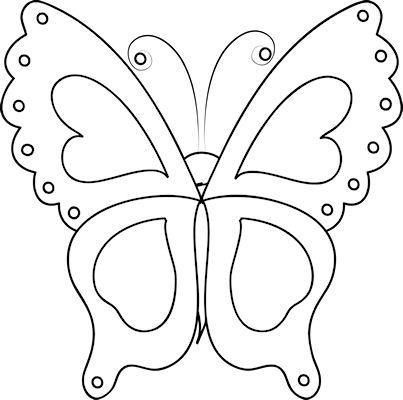 Шаблон бабочки из фетра