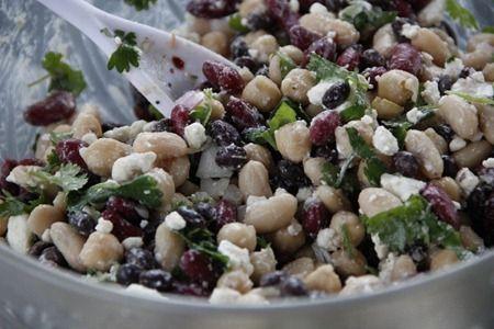 Bean and Feta Salad | Food | Pinterest